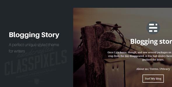 Blogging story HTML5 Blog template