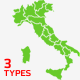 Map of Italy + Flags & Markers - GraphicRiver Item for Sale