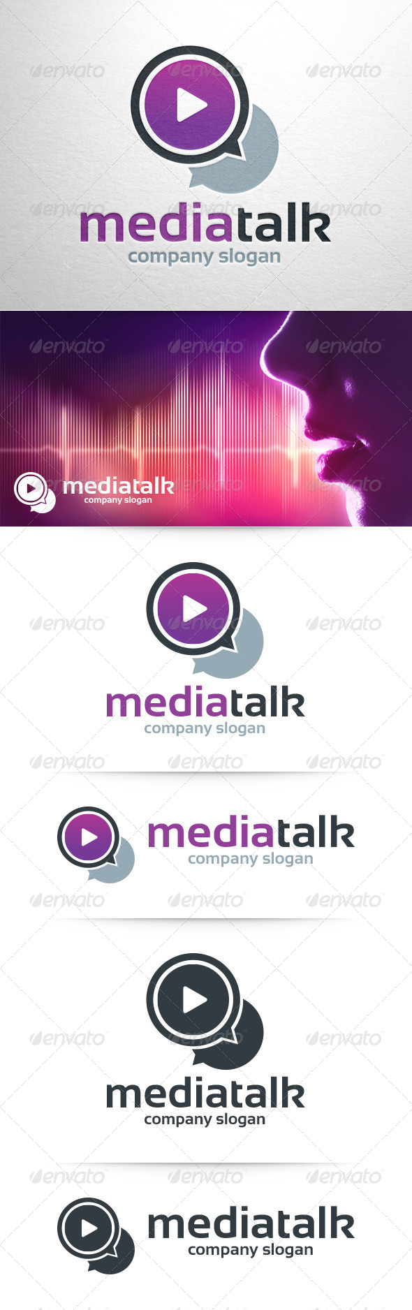 Media Talk Logo Template