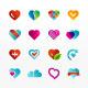 Heart Symbol Icon Set - GraphicRiver Item for Sale