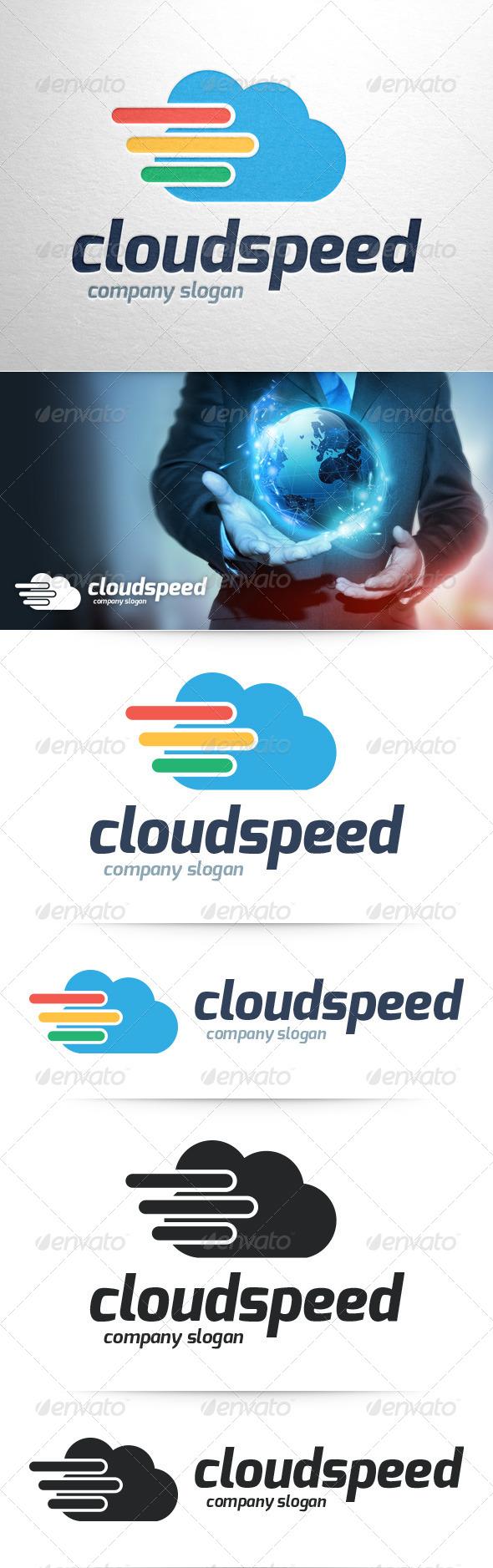 Cloud Speed Logo Template