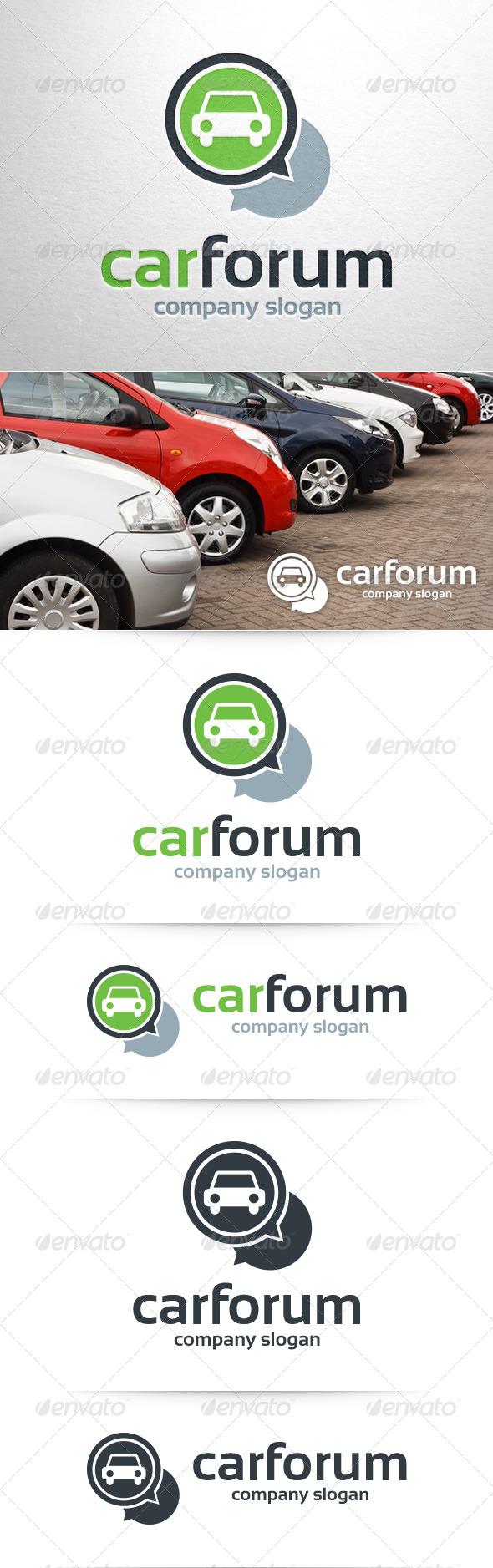 Car Forum Logo Template