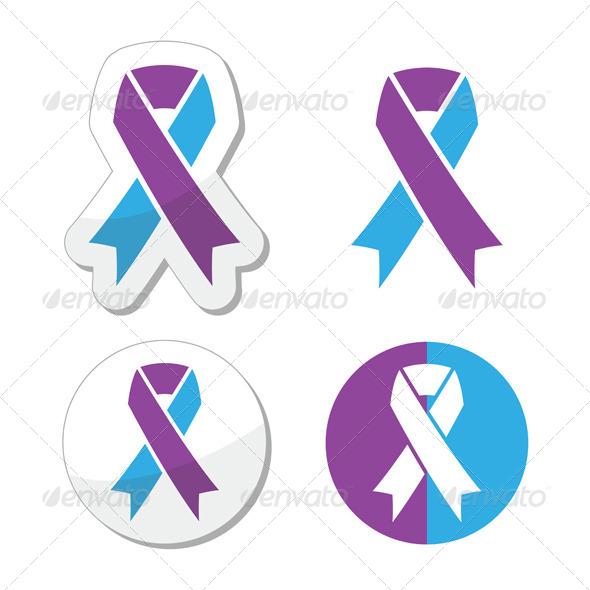 Purple and Blue Ribbon - Paediatric Strokes