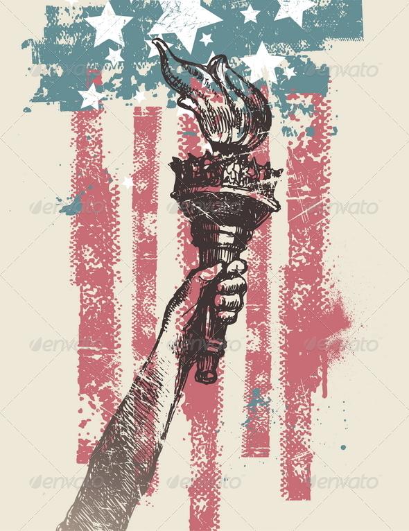 USA Patriotic Vector Illustration