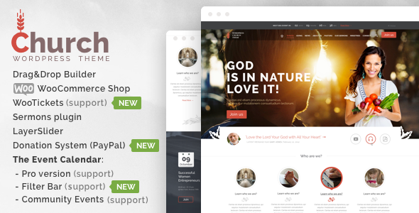 Church  - WordPress - Wordpress Themes & Templates - Hire Wordpress Freelancers from FreelancerCV.com