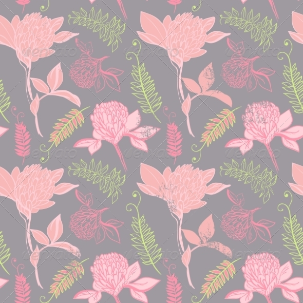 Seamless Vector Pattern with Clover