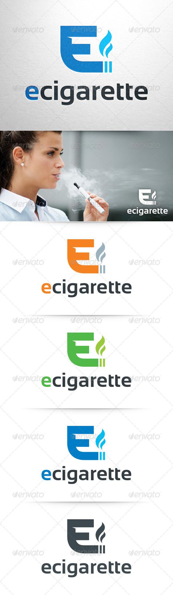 E Cigarette Logo Template