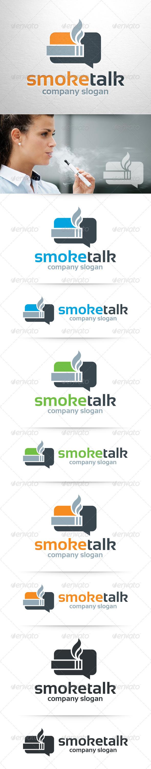 Smoke Talk Logo Template