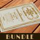 Art Deco Wedding Anniversary Invitation - Bundle - GraphicRiver Item for Sale