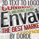 Multipurpose Clean 3D Text to Logo