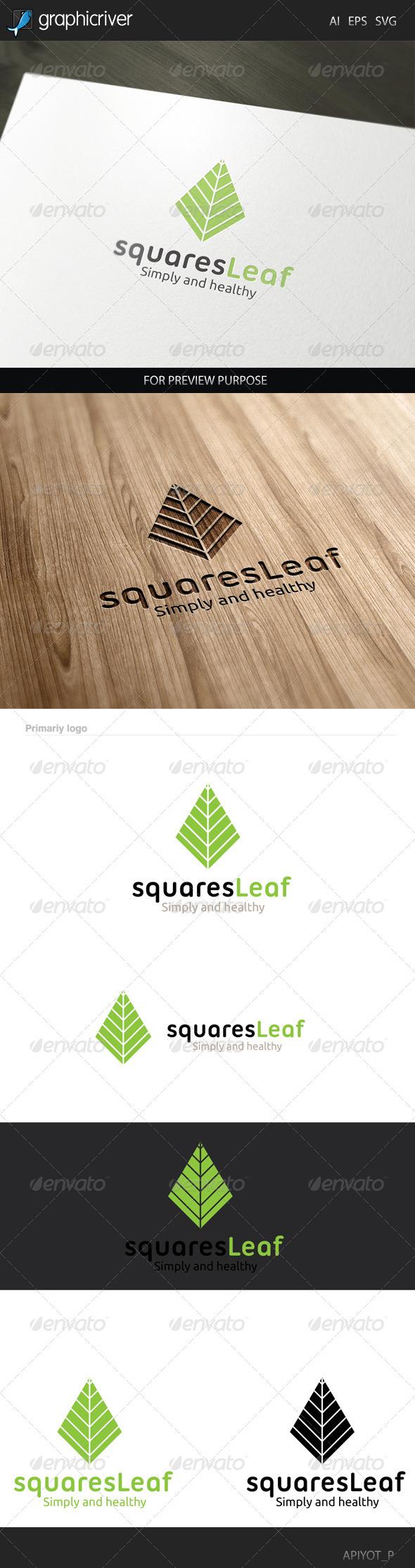 Squares Leaf Logo