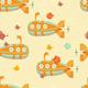 Underwater Submarine Seamless Pattern - GraphicRiver Item for Sale