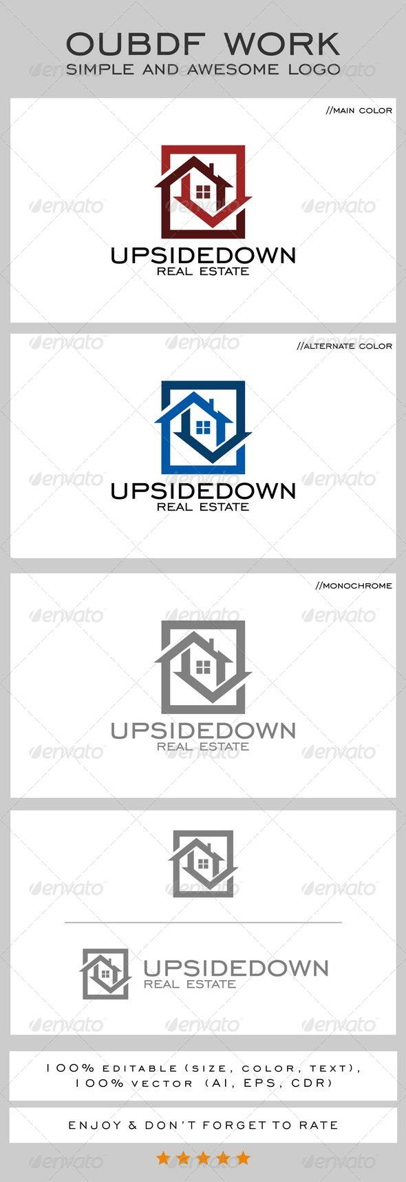 Upsidedown Real Estate Logo
