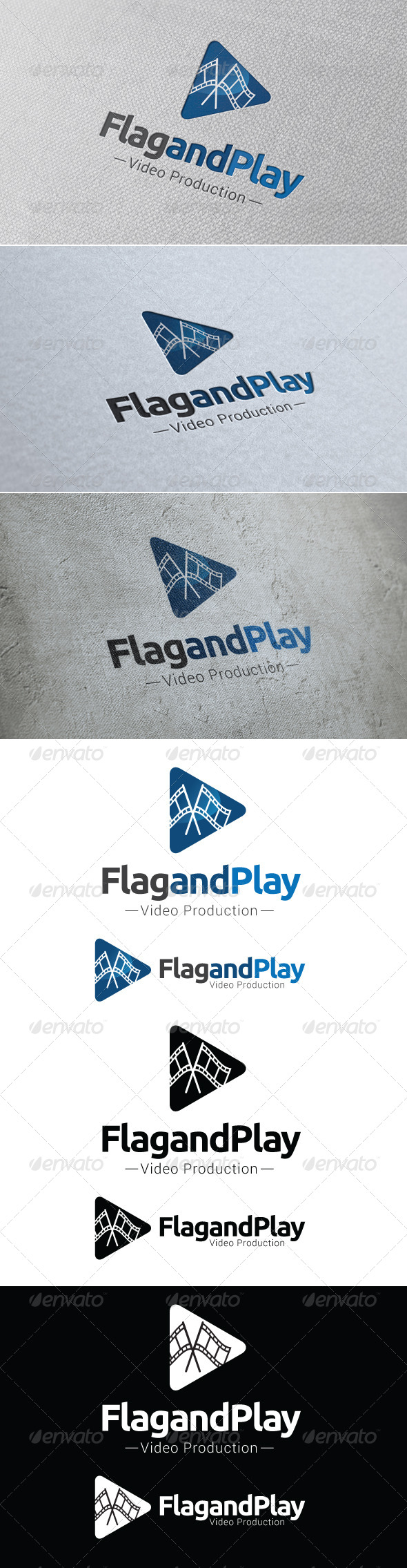 Flag and Play Logo Template