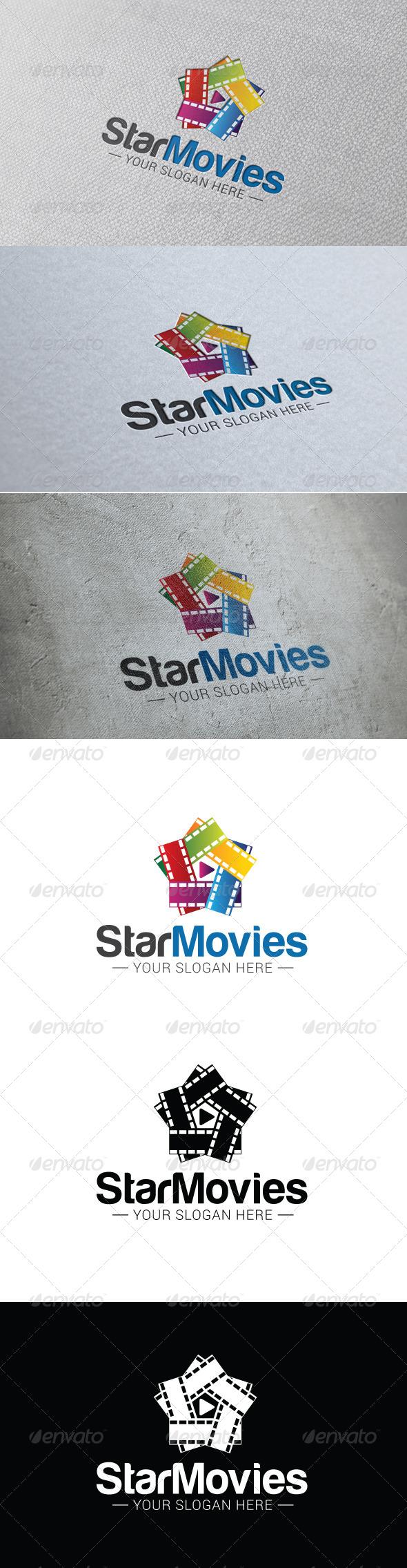Star Movie Logo Template