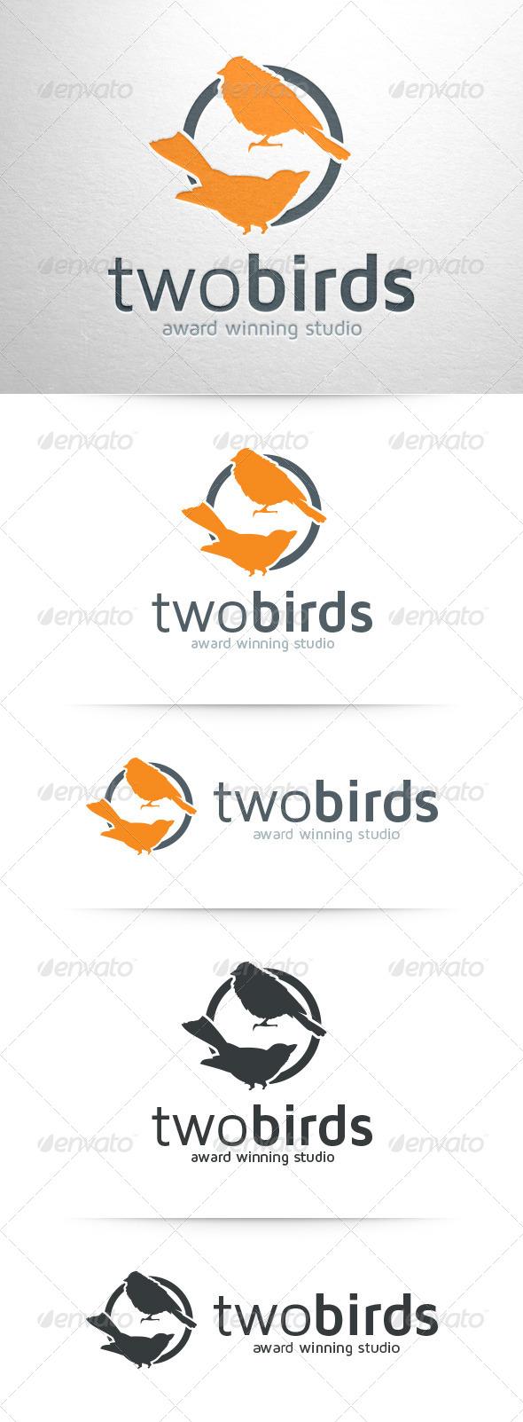 Two Birds Logo Template