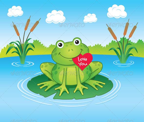 Valentines Day Frog