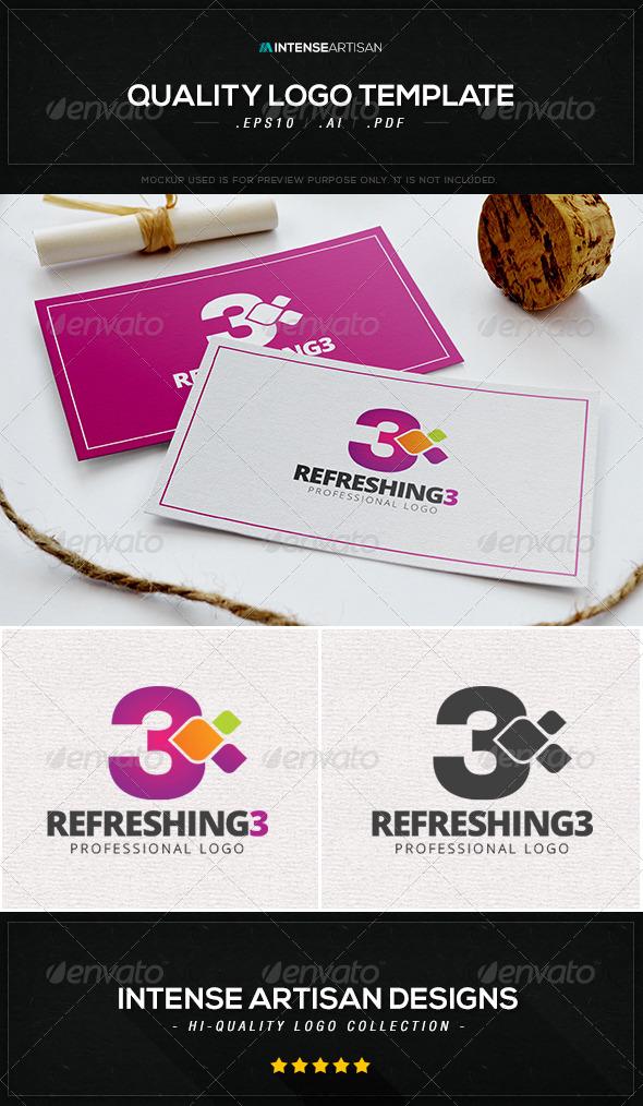 Refreshing 3 Logo Template