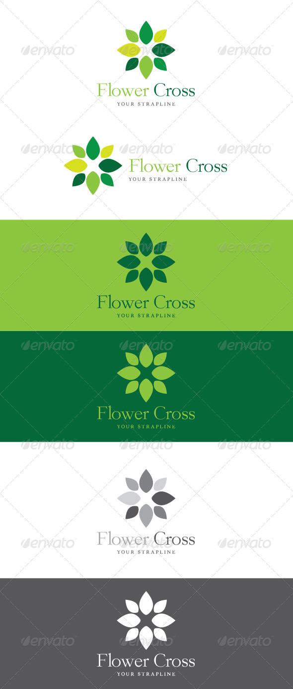 Flower Cross Logo