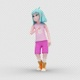 Cartoon Girl 2 with Dancing Samba - VideoHive Item for Sale