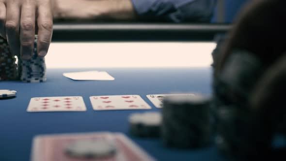 Texas Hold 'em poker tournament at the casino