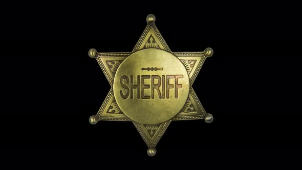 Isolated Spinning Sheriff Star Badge