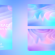 Colorful Wavy Shape Backgrounds Pack - VideoHive Item for Sale