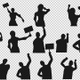 Protesting People Silhouette (17-Pack) - VideoHive Item for Sale