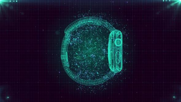 4K Digital Futuristic Hud Watch