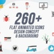Flat Animated Icons Pack / Design concepts and backgrounds - VideoHive Item for Sale