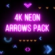4k Neon Arrows Pack - VideoHive Item for Sale