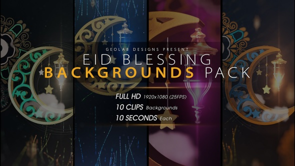 Eid Blessing Backgrounds Pack