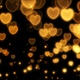 Sparkling Golden Hearts - VideoHive Item for Sale