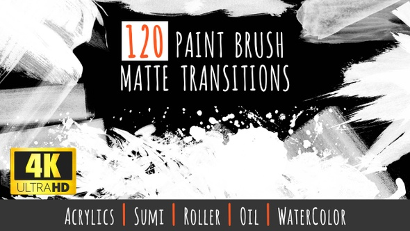 120 Paint Brush Matte Transitions - 4K Pack by Rouge_Trader