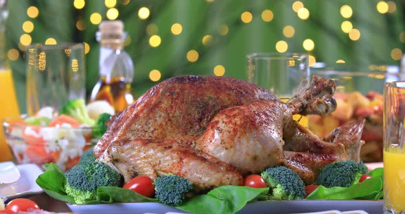 Celebrating Thanksgiving Day with Roasted Turkey
