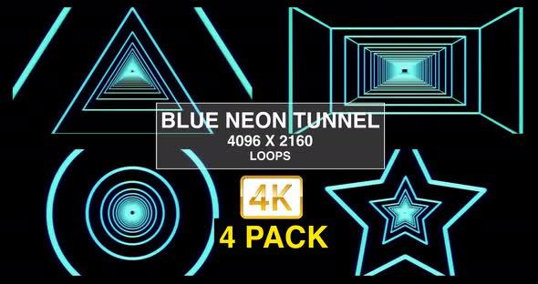 Blue Neon Tunnel