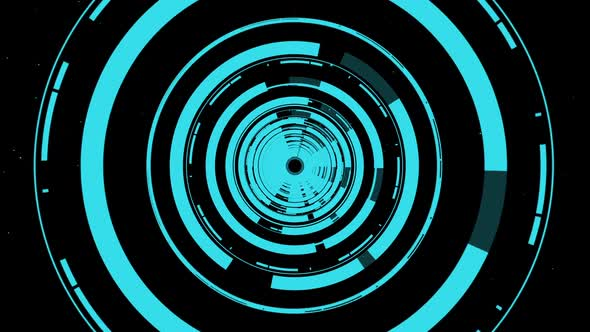 High Tech Circle Tunnel Background