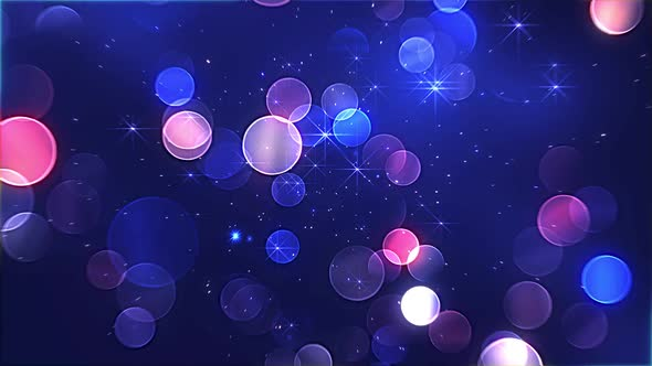 Blue Background Bright Particles