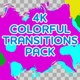 4k Colorful Ink Flow Transitions - VideoHive Item for Sale