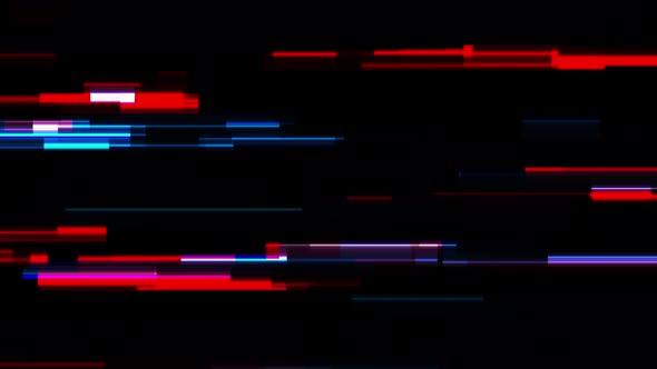 Tech Glowing Neon Glitch Lines