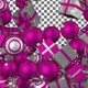 Christmas Balls and Gift Boxes Transition - Pink White - VideoHive Item for Sale
