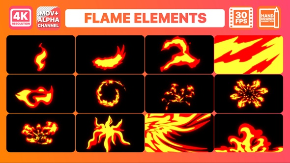 Flame Elements | Motion Graphics