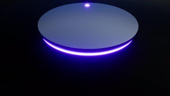 Alarm Application Robot Neon Button Techno Concept Modern Equipment