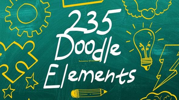 235 Doodle Elements
