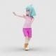 Cartoon Girl 2 with Dancing Samba 2 - VideoHive Item for Sale