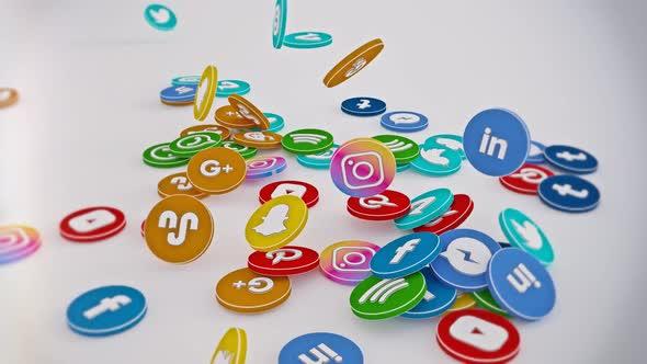 Social Media Logo Circle
