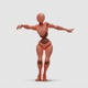 Bot Woman with Dancing Belly - VideoHive Item for Sale