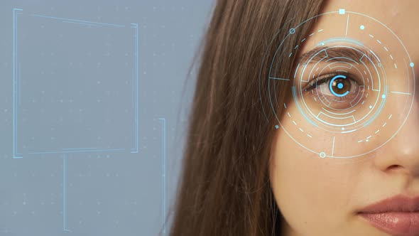 The Female Eye with a Futuristic Vision System