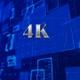 Digital Blue Shiny Background 4K  - VideoHive Item for Sale