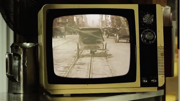 A Trip Down Market Street on a Retro TV.